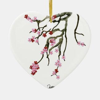 cherry blossom 12 Tony Fernandes Ceramic Heart Decoration