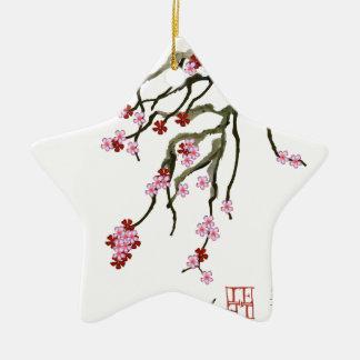 cherry blossom 12 Tony Fernandes Christmas Ornament