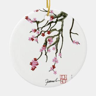 cherry blossom 12 Tony Fernandes Round Ceramic Decoration