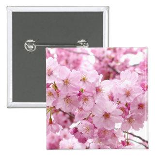 Cherry blossom 15 cm square badge