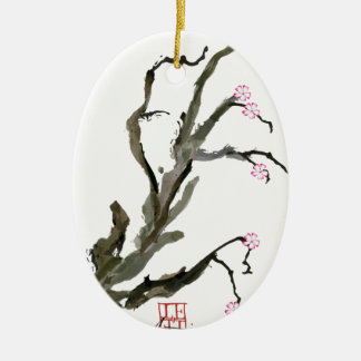 Cherry Blossom 15 Tony Fernandes Ceramic Oval Decoration