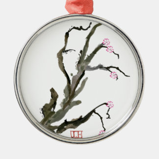 Cherry Blossom 15 Tony Fernandes Silver-Colored Round Decoration