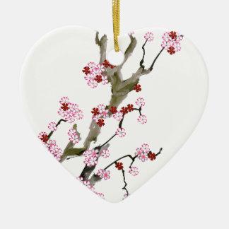 Cherry Blossom 16 Tony Fernandes Ceramic Heart Decoration