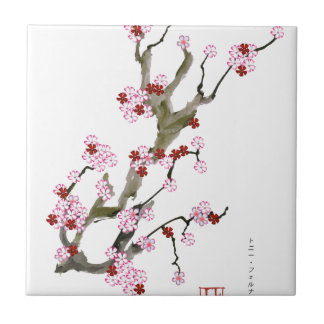 Cherry Blossom 16 Tony Fernandes Small Square Tile
