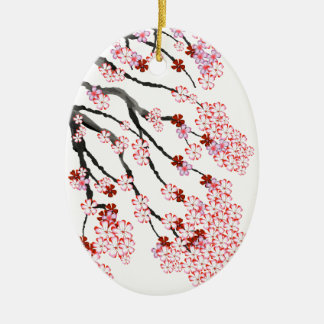 Cherry Blossom 18 Tony Fernandes Ceramic Oval Decoration