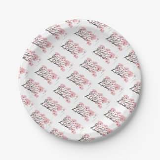 Cherry Blossom 18 Tony Fernandes Paper Plate