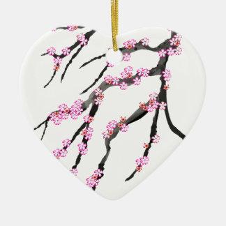 Cherry Blossom 30, Tony Fernandes Ceramic Heart Decoration
