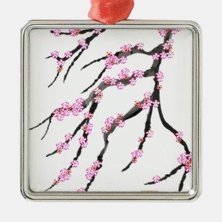 Cherry Blossom 30, Tony Fernandes Silver-Colored Square Decoration