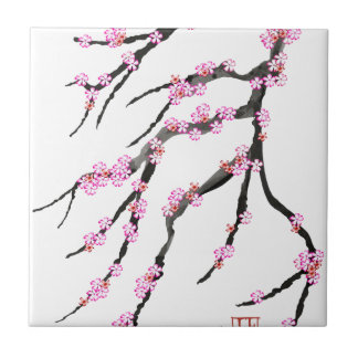 Cherry Blossom 30, Tony Fernandes Small Square Tile