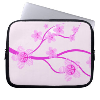 Cherry Blossom Abstract Laptop Sleeve