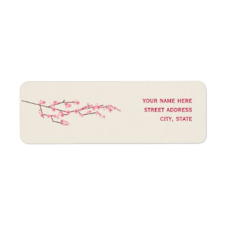 Cherry Blossom Adress Label