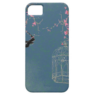 Cherry blossom and birdcage iPhone 5 cover