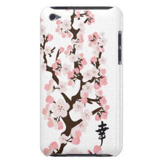 Cherry Blossom and Kanji Case-Mate Case iPod Touch Cases