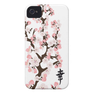 Cherry Blossom and Kanji iPhone 4 4S ID Case-Mate iPhone 4 Cases
