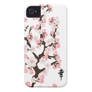 Cherry Blossom and Kanji iPhone 4 Covers