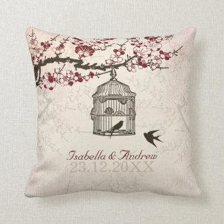 Cherry Blossom and Love Birds Cushion