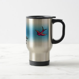 Cherry Blossom and Swallow Travel Mig Travel Mug