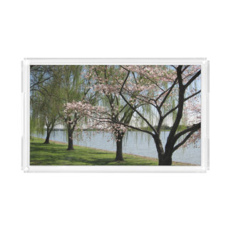 Cherry Blossom and Willow Serving Tray