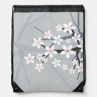 Cherry Blossom Drawstring Backpacks