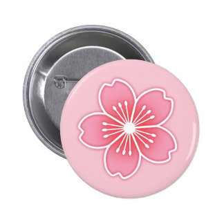 Cherry Blossom 6 Cm Round Badge