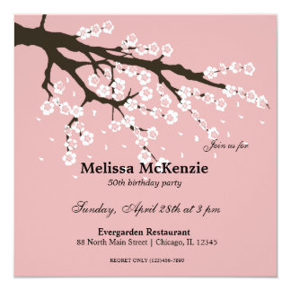 Japanese Cherry Birthday Party Invitations Announcements - Birthday invitation in japanese