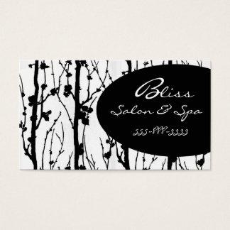 cherry blossom black 1 business card