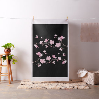Cherry Blossom - Black Fabric