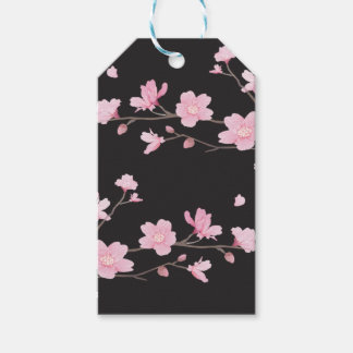 Cherry Blossom - Black Gift Tags