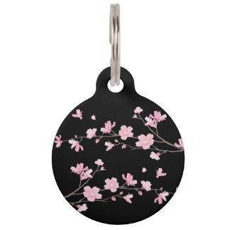 Cherry Blossom - Black Pet Nametag
