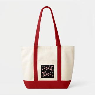 Cherry Blossom - Black Tote Bag