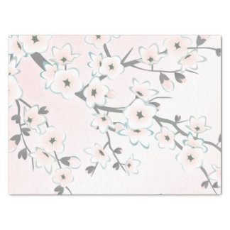 Cherry Blossom Blush Mint Chic Tissue Paper