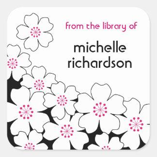 Cherry Blossom bookplates Square Sticker