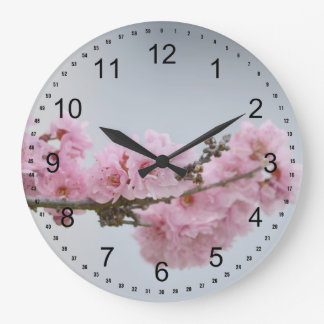 Cherry Blossom Branch Large Clock
