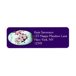Cherry Blossom Branch Return Address Label