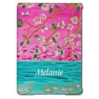Cherry Blossom Branch Sakura Water Ripple Painting iPad Air Case