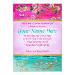 Cherry Blossom Branch Sakura Water Ripple Painting 13 Cm X 18 Cm Invitation Card