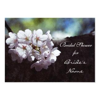 Cherry blossom bridal shower 13 cm x 18 cm invitation card