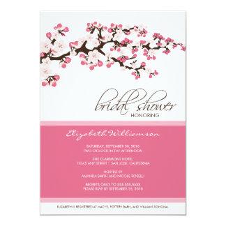 "Cherry Blossom Bridal Shower Invitation (rose) 5"" X 7"" Invitation Card"