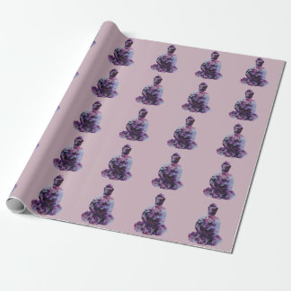 Cherry Blossom Buddha Wrapping Paper