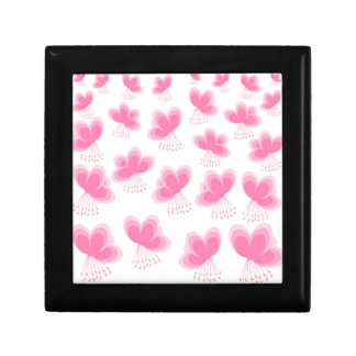 Cherry Blossom Butterfly Pattern Small Square Gift Box