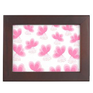 Cherry Blossom Butterfly Pattern Memory Box
