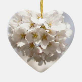 Cherry Blossom Ceramic Heart Decoration