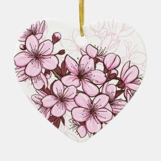 Cherry blossom christmas ornament