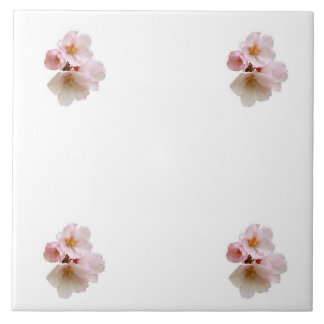 Cherry Blossom Cluster Large Square Tile