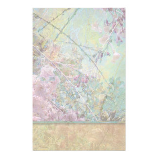 Cherry Blossom Collage Light Stationery Paper