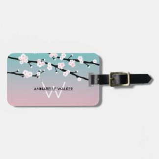 Cherry Blossom Custom Name Luggage Tag