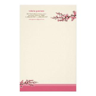 Cherry Blossom Custom Stationery (pink)
