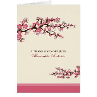 Cherry Blossom Custom Thank You Card (pink)
