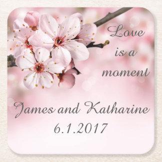 Cherry Blossom Customizable Wedding Coaster