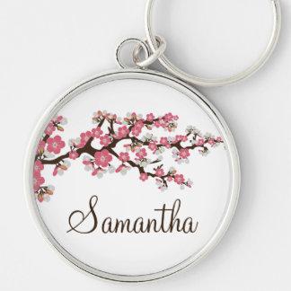 Cherry Blossom Customized Keychain pink